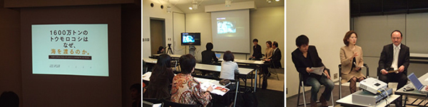 写真の説明:右が浜本氏、真中が西澤、左がスタービヨンド佐藤氏(DVD制作担 当
